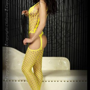 Yellow bodystocking