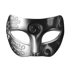 Metal Look Silver Masquerade Mask
