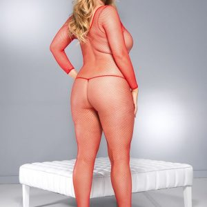 red bodystocking