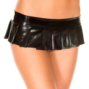 pleated micro skirt