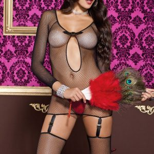 fishnet garter dress