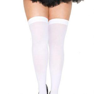 white plus size stockings