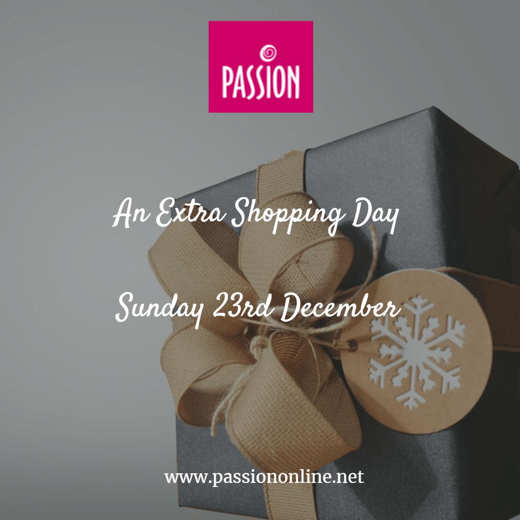 Open Sunday 23 December 2018