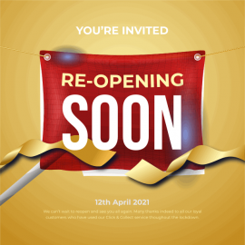 Reopening 12th April
